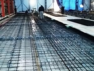 Cold store floor construction