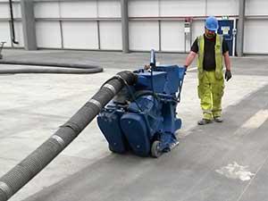 Surface Preparation of a Concrete Floor