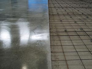 Topping slab floors