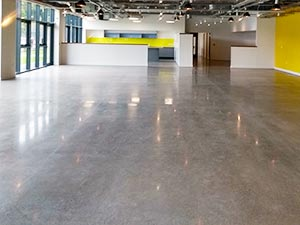 Industrial Polished Concrete Floor