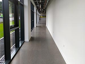 Polished Concrete Floor in Corridor