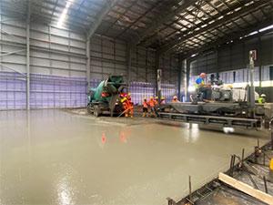 Full FM1 Tolerance Concrete Floor