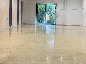 Gloss Finish Polished Concrete Floor For Body Armour Customer