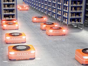 AMRs in an Automated Warehouse