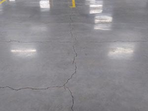Cleaned Floor Crack Ready for Repair with CoGri Rapid Seal 75
