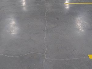 Repaired Concrete Floor Crack